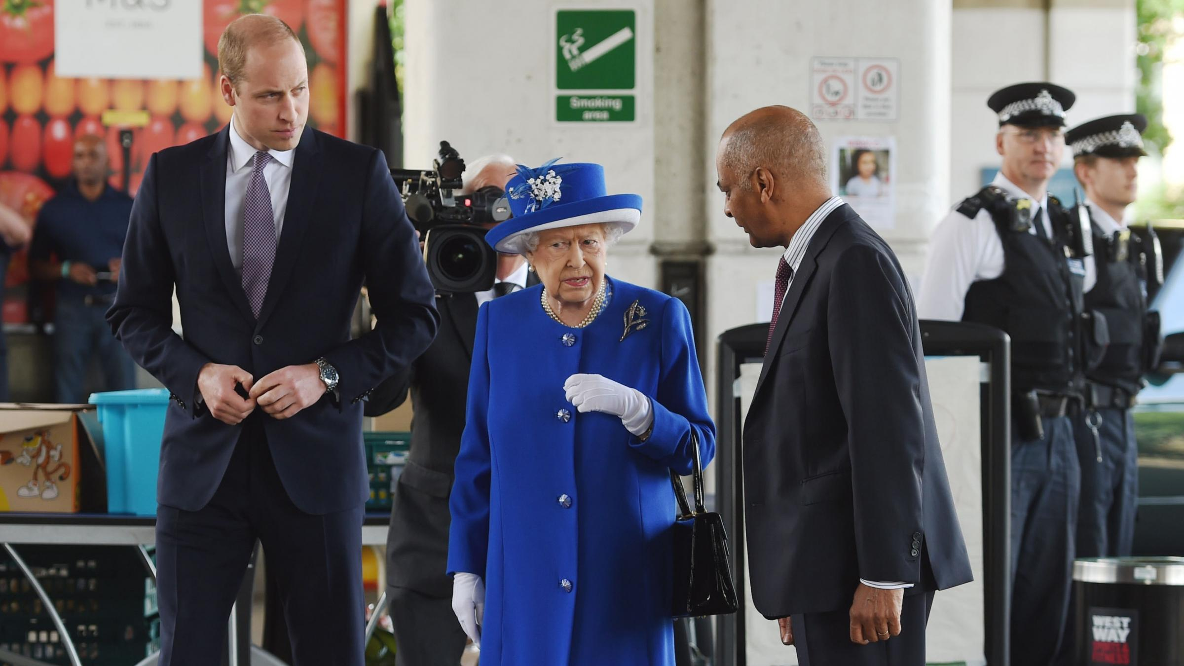 UK royals honor London fire victims as anger mounts
